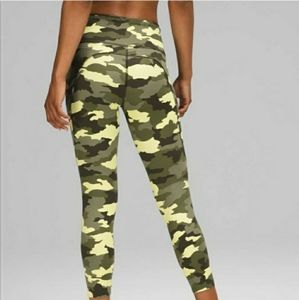 """NEW Lululemon Fast and Free HR Tight 25"""" Camo"""